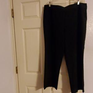 Avenue black plus size trousers